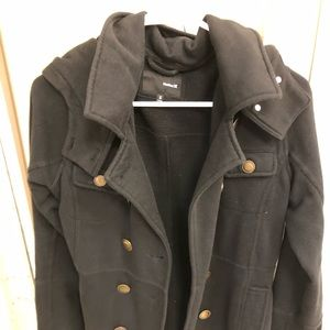 Hurley black military coat